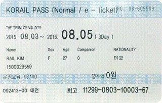 KR Pass (Korea Rail Pass)。 圖/韓國觀光公社