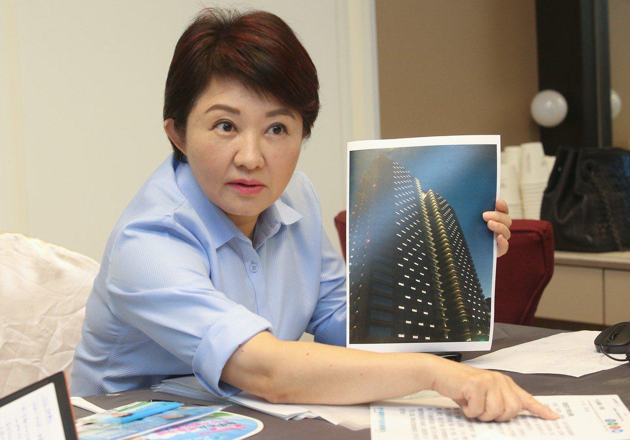 國民黨台中市長參選人盧秀燕表示,老公是她唯一永遠的戀人。記者黃仲裕/攝影
