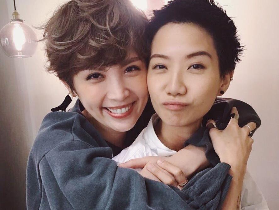 魏如萱(左)和盧凱彤非常要好。圖/摘自臉書