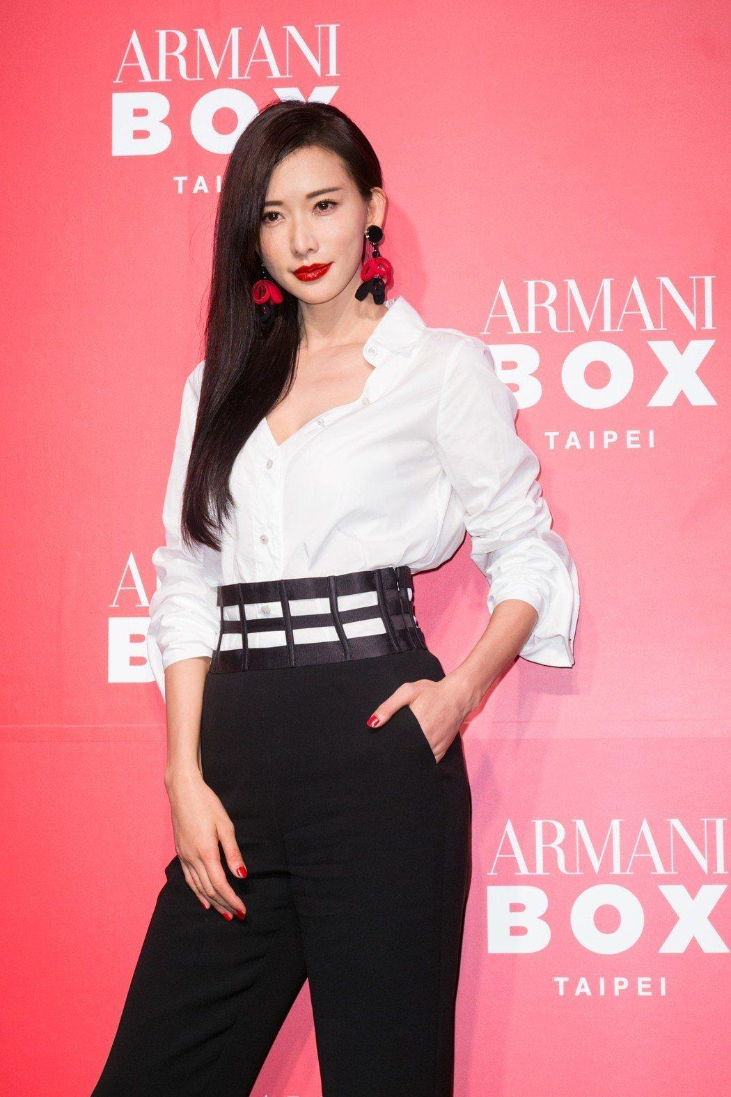 林志玲出席Armani Box 亞曼尼精品美妝全球巡迴快閃店。記者陳立凱/攝影