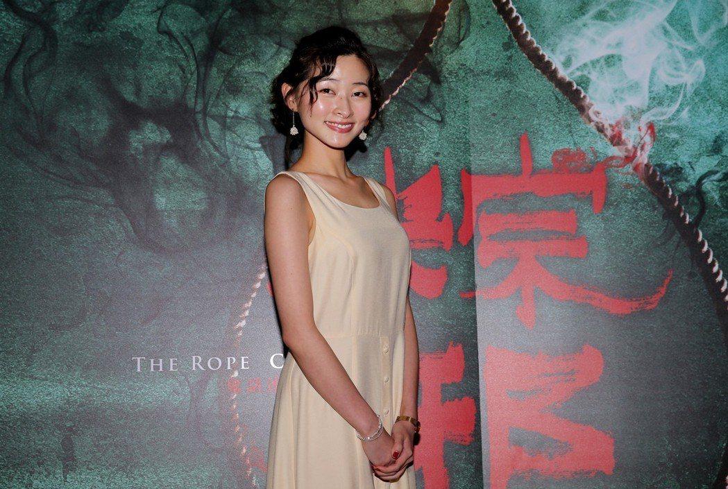 李亞臻出席平面媒體聯訪為電影《粽邪》宣傳。記者徐兆玄/攝影