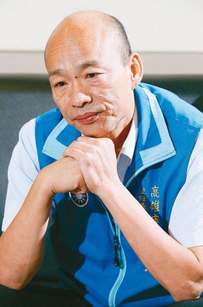 韓國瑜表示,這段日子以來未爭取到任何黨中央給的資源,「通通沒有」。 記者劉學聖/...