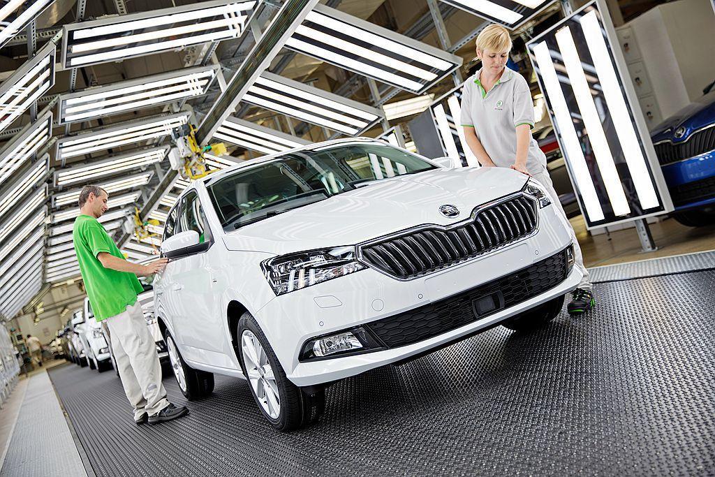 Skoda汽車位於捷克Mladá Boleslav的新車生產基地,日前宣布開始組裝小改款Fabia。 圖/Skoda提供