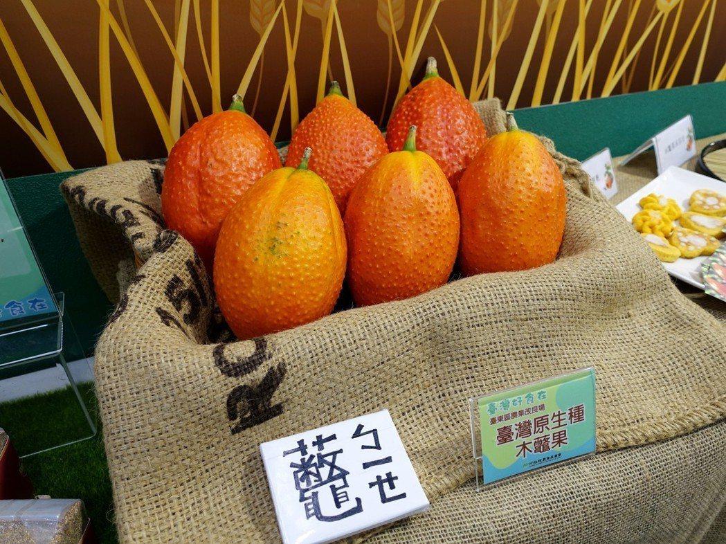 台東地區生產的「木虌果」。記者張芳瑜/攝影