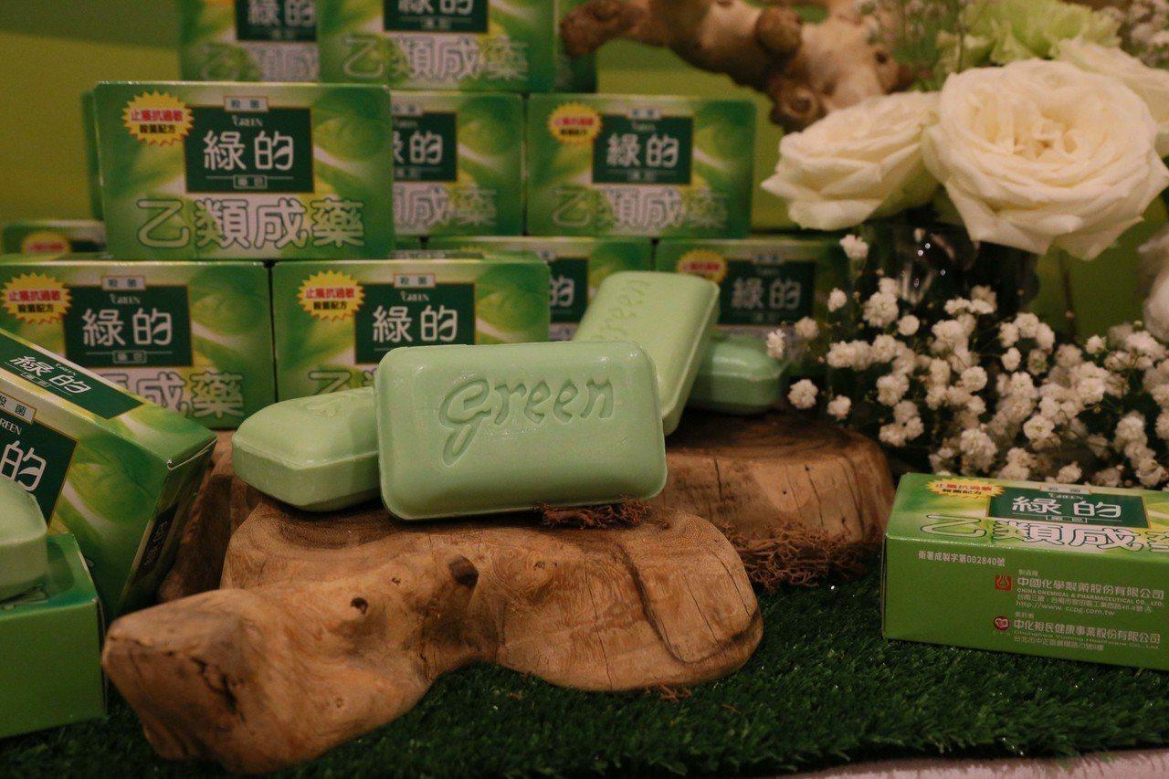 中化生產的「綠的藥皂」產品。 圖/中化提供
