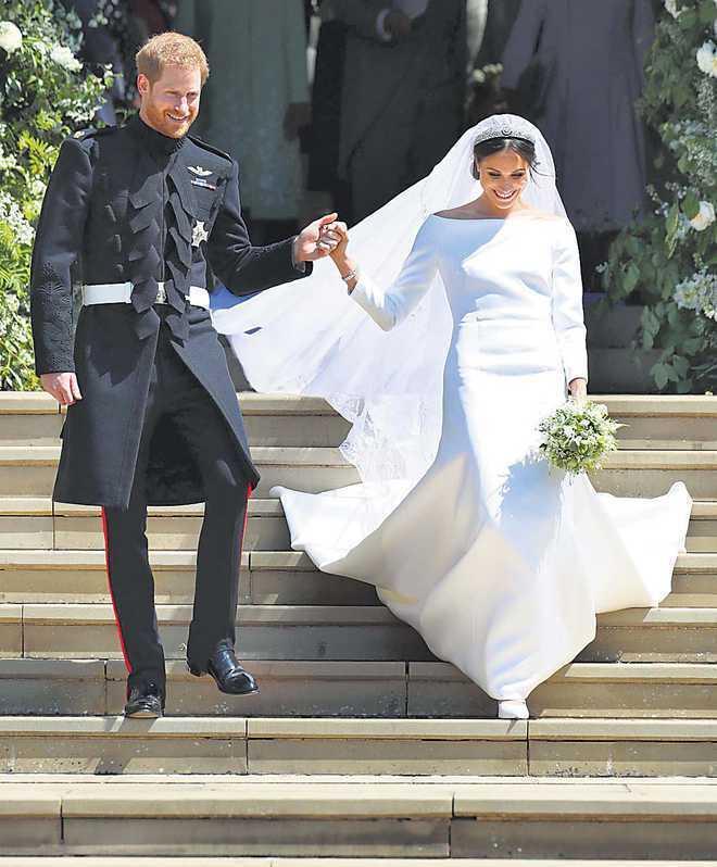 梅根與哈利王子的皇室婚禮讓不少觀眾印象深刻。圖/路透資料照片
