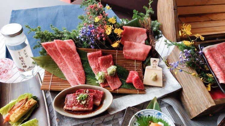 老乾杯本次肉品均以A5、9+級的日本與澳洲和牛為主,堪稱史上最高級的套餐。圖/老...