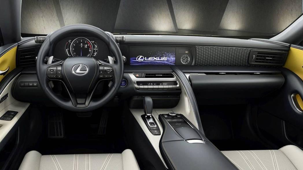 Lexus LC Yellow Eition內裝。 摘自Lexus