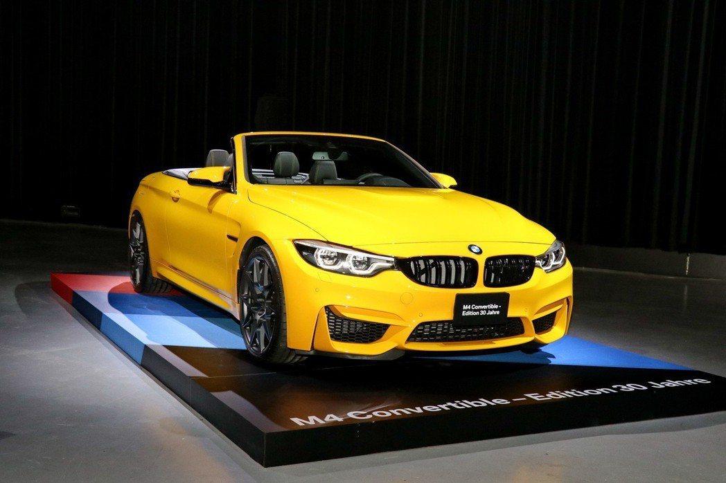 全新BMW M4敞篷跑車30周年紀念版。 記者陳威任/攝影