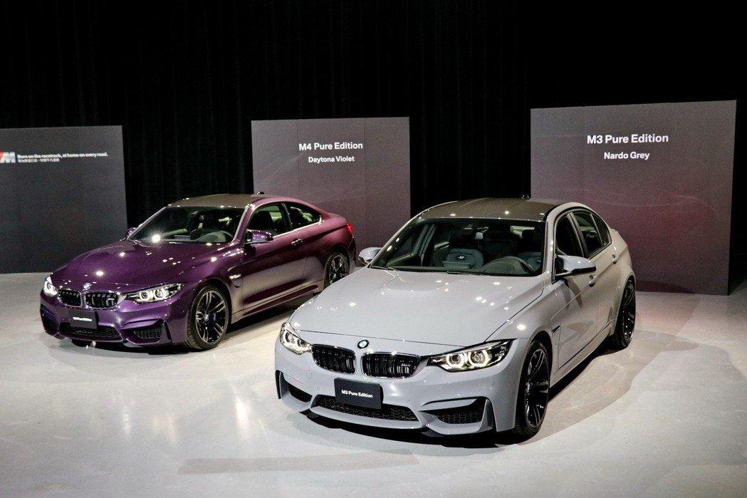 全新BMW M3 Pure Edition四門跑車、M4 Pure Edition雙門跑車展現專注於賽道的純粹精神。 記者陳威任/攝影