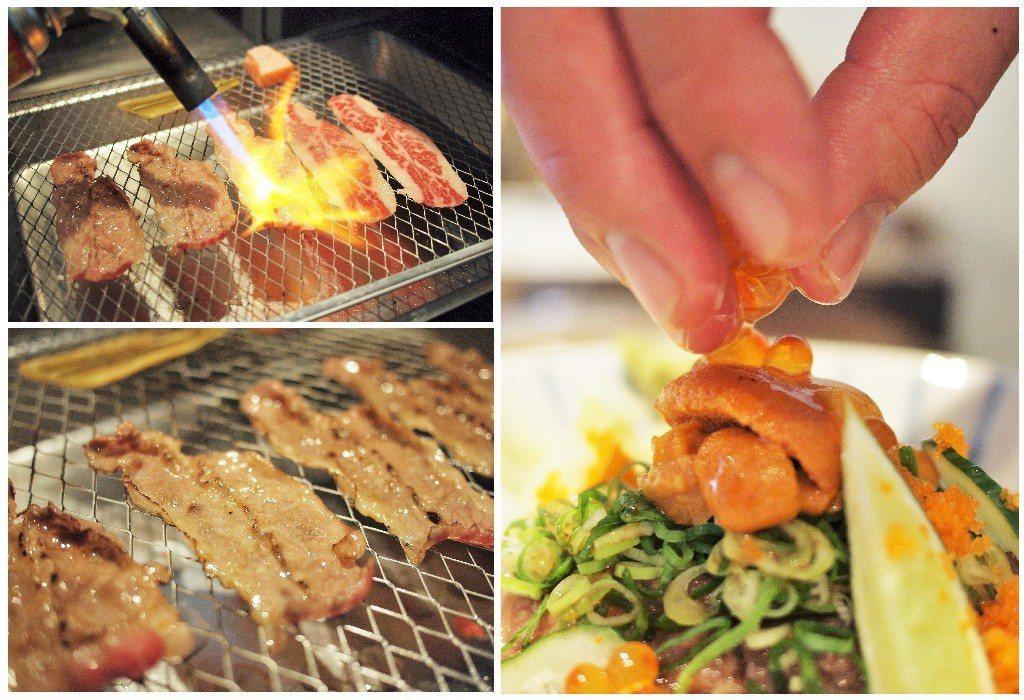 ▲炙燒過的牛肉油脂充滿香氣。(圖/台灣旅行趣)