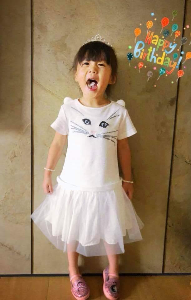 咘咘過3歲生日。圖/摘自臉書