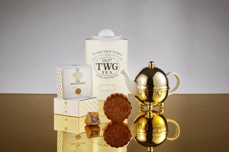 TWG Tea明月皓空限量手工茶香月餅單入裝。圖/TWG Tea提供