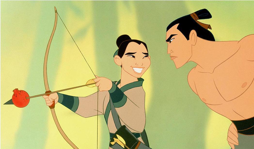 動畫版「花木蘭」男女主角對手戲尺度最大也就這樣。圖/摘自imdb