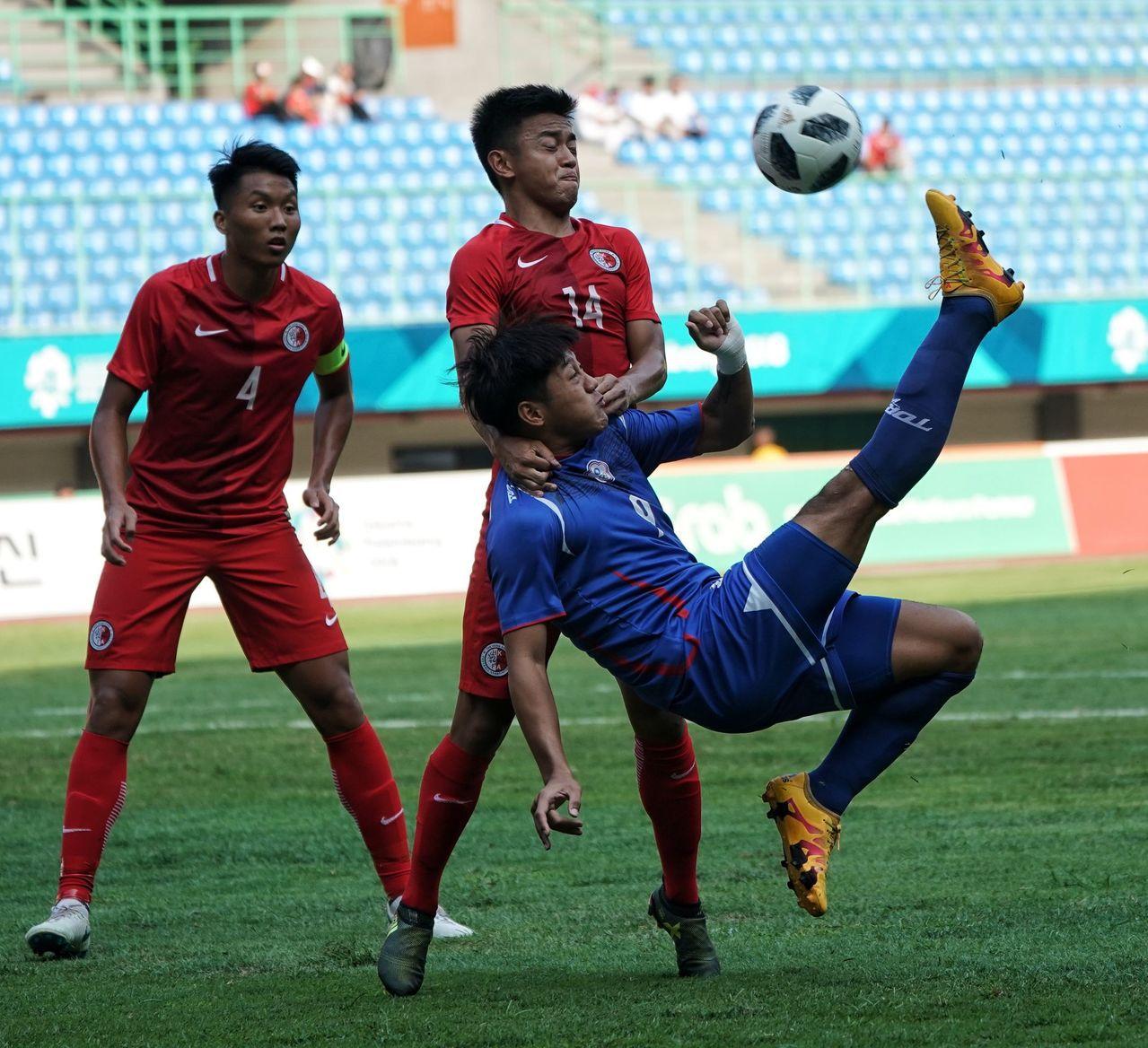 中華男足在小組賽第3戰以0:4不敵香港。圖/中華奧會提供