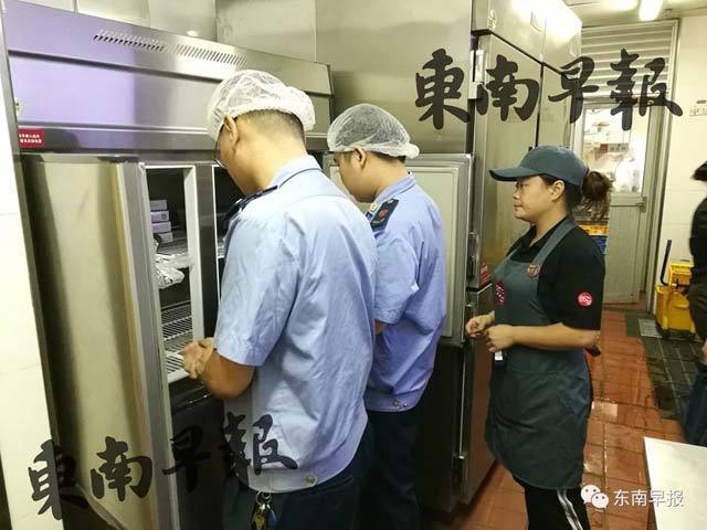 85°C位於福建省泉州市的門店,15日遭當地食安部門突擊檢查。(網路照片)