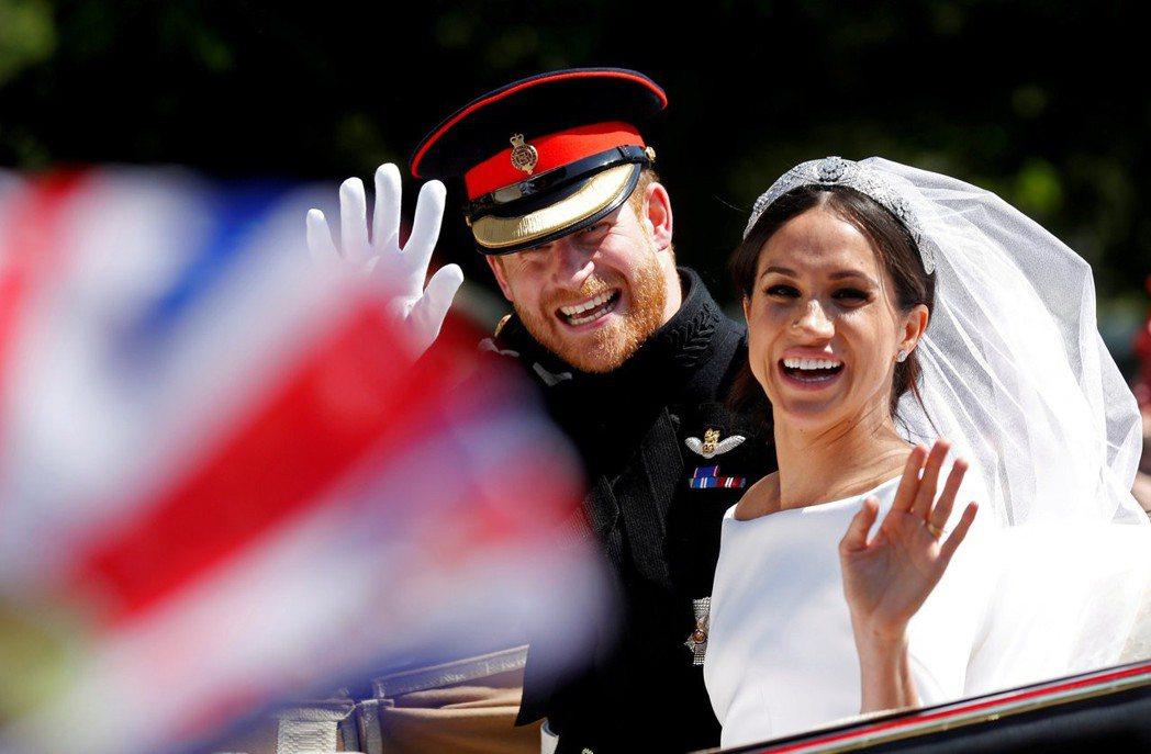 哈利王子與梅根的皇室婚禮受到全球觀眾的矚目。圖/路透資料照片