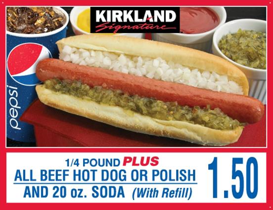 好市多熱狗+汽水套餐,在美國價格一直維持1.5美元,在台灣則堅持賣50元。 圖/...