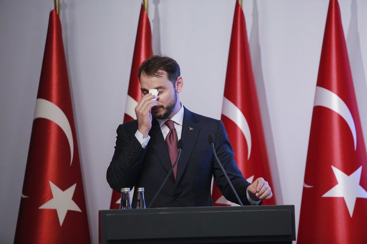 土耳其總統艾爾段女婿、土耳其財政部長阿爾巴拉克。 美聯社