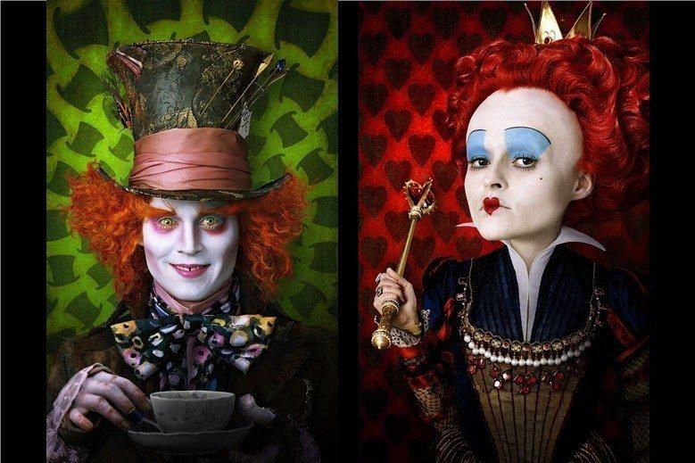 英國作家路易斯・卡羅名著《愛麗絲夢遊仙境》電影劇照海報。 圖/路透社