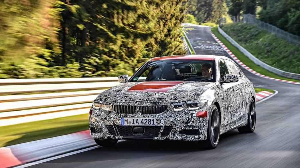新世代BMW 3-Series官方測試偽裝照。 摘自BMW