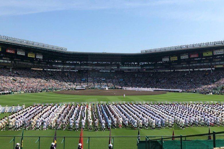 8月5日,兵庫縣西宮甲子園球場聚集了56隊從全國脫穎而出的菁英球隊。 圖/取自阪神甲子園球場推特