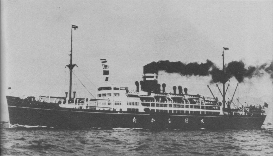 大阪商船客貨船高千穗丸。 圖/維基共享
