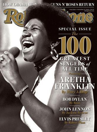 艾瑞莎名列《滾石雜誌》「100名歷史上的偉大歌手」第一名。 圖/路透社