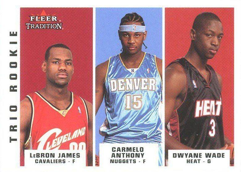 2003年黃金梯3大球星中,詹姆斯(左)和韋德(右)已經有非凡的成就,但安東尼(...