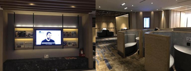 環亞貴賓室的休息區-感覺和新加坡機場的環亞貴賓室設計相似 圖文來自於:TripP...