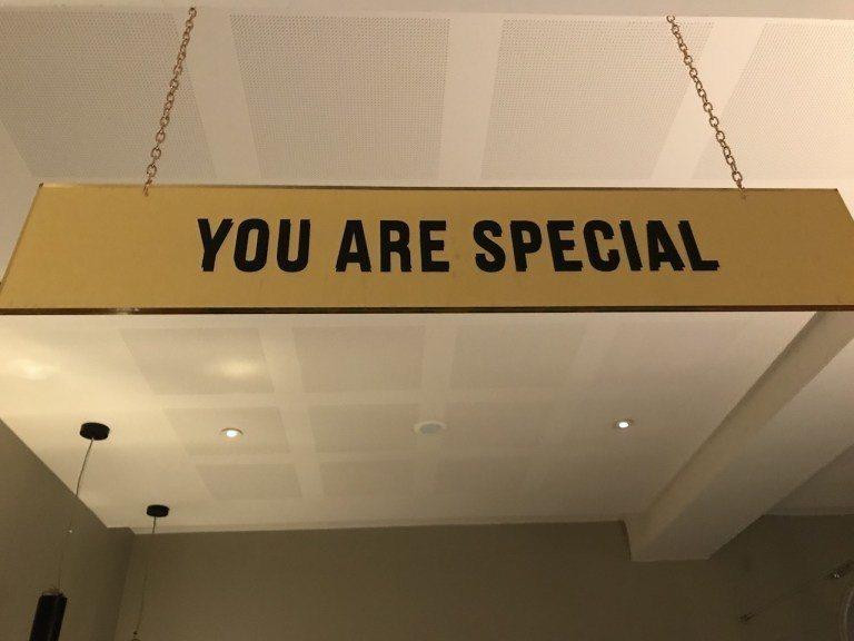 """但是我個人覺得最讓我感動的,是這區""""You are special"""" 圖文來自於..."""