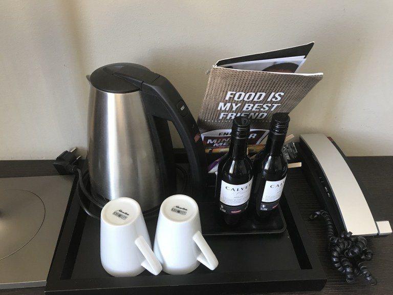 房間沒有咖啡機,只有熱水壺 圖文來自於:TripPlus