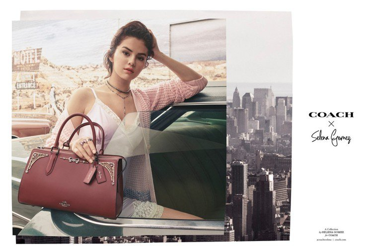 COACH x Selena Gomez的系列形象廣告。圖/COACH提供
