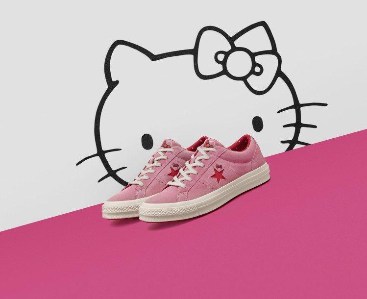 Converse與Hello Kitty聯名One Star系列粉紅鞋,2,98...