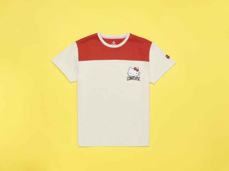 Converse與Hello Kitty聯名系列T恤,1,280元。圖/Conv...