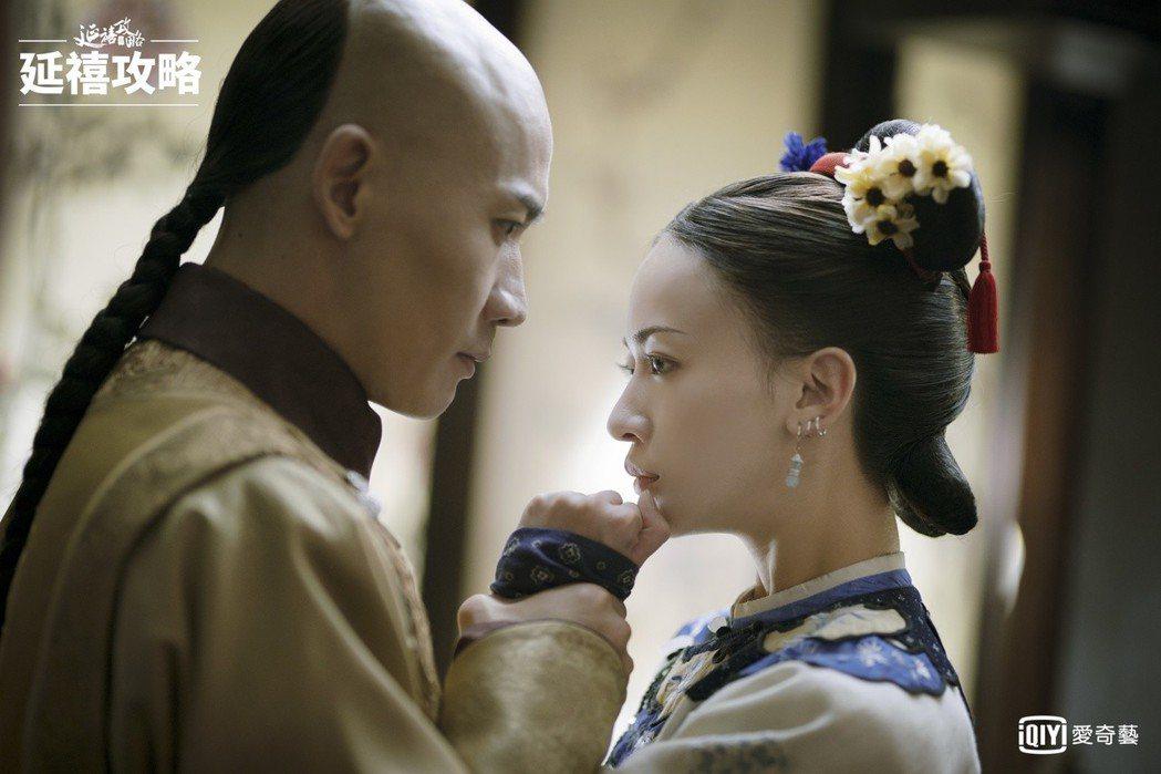 吳謹言(右)與聶遠在「延禧攻略」中的親密互動受到戲迷喜愛。圖/愛奇藝台灣站提供