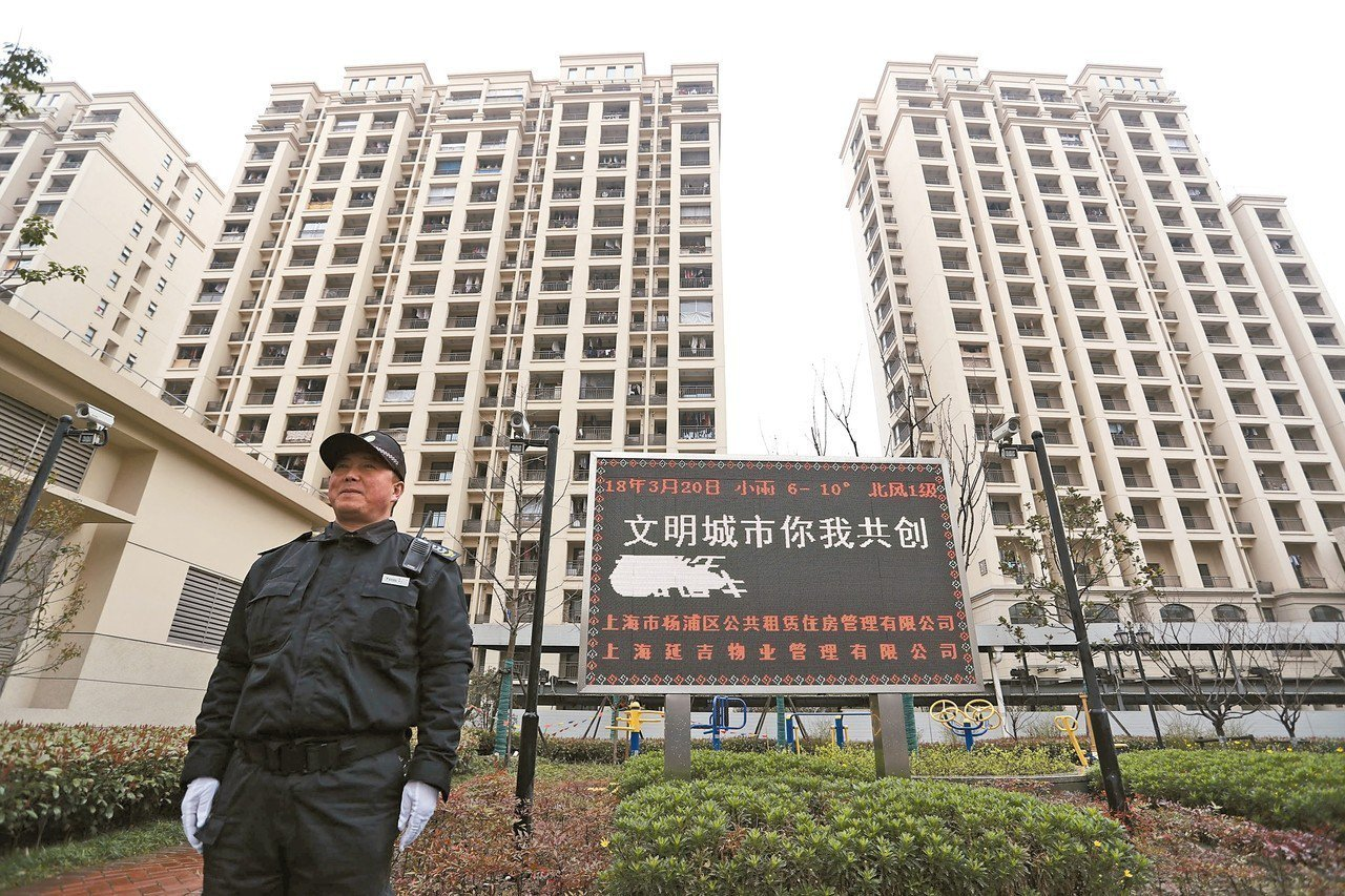 中國近年嚴打房市,房屋買賣遭嚴格調控,卻造成房租被炒作狂漲。圖為上海推出的人才公...
