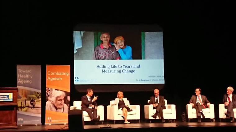 加拿大多倫多第14屆國際老化聯盟會議 揚生慈善基金會/許華倚執行長提供
