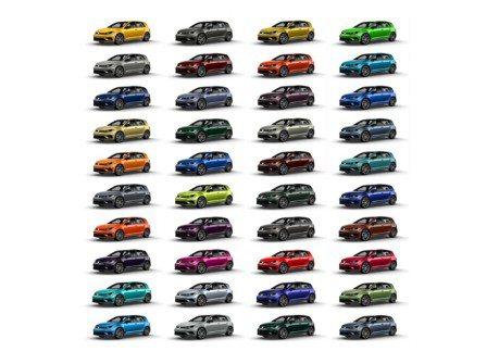 別再只有黑白銀了 Volkswagen Golf R 40種車色隨你挑!