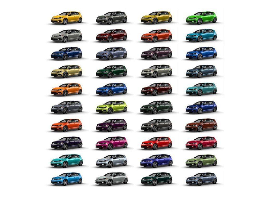 Volkswagen Golf R在北美市場擁有40種的車色選擇。 摘自Volk...