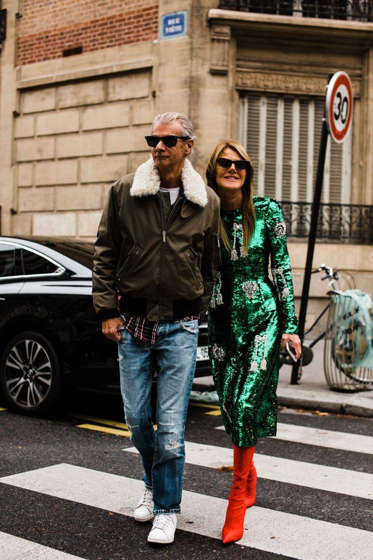 Anna Dello Russo和男友Angelo Gioia。圖/摘自Pint...