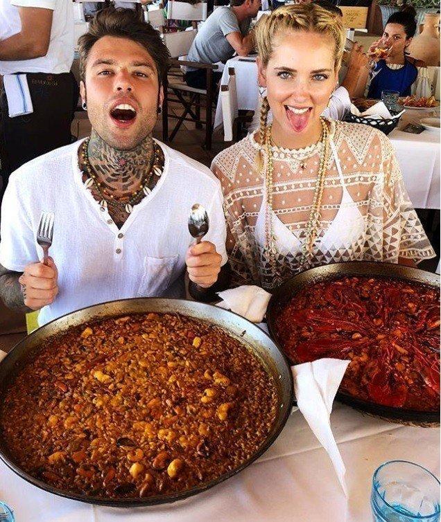 Chiara Ferragni與未婚夫Fedez。圖/摘自IG