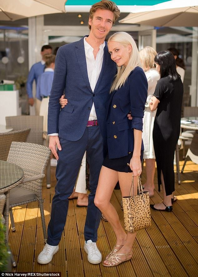 Poppy Delevingne與老公James Cook。圖/摘自英國每日郵報