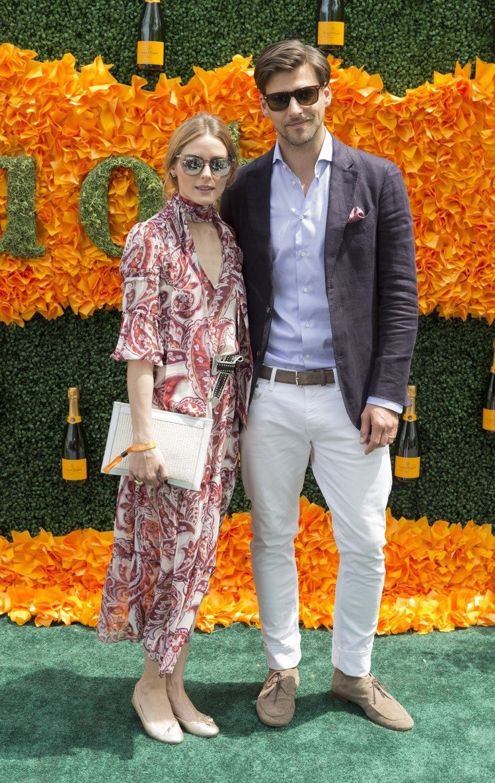 奧莉薇亞巴勒莫與老公Johannes Huebl。圖/達志影像