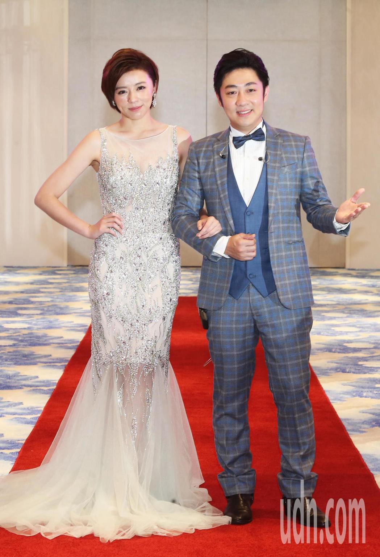 王瞳、艾成首次一起穿上結婚禮服走紅毯。記者徐兆玄/攝影
