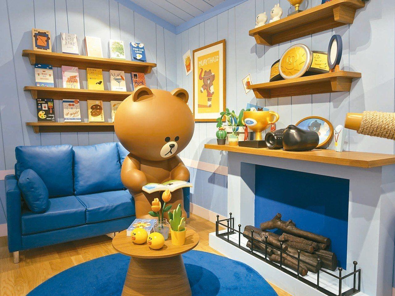 熊大正在自己的房間看書。 記者張芳瑜/攝影