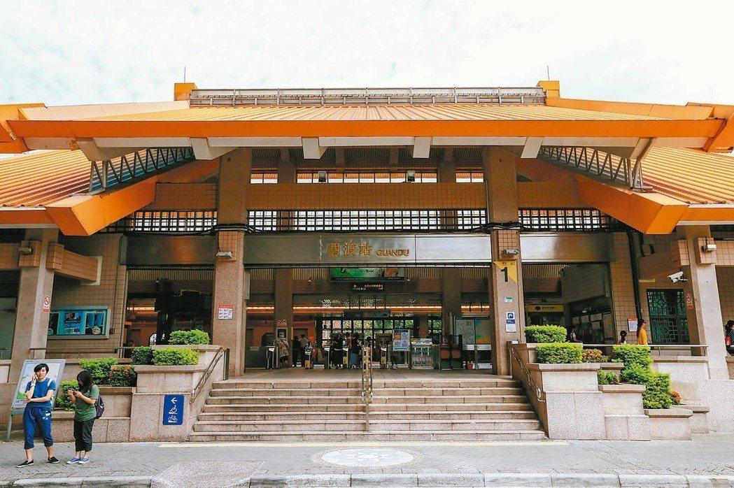 關渡捷運站屬於價格親民的台北市門牌。 圖/聯合報系資料照片