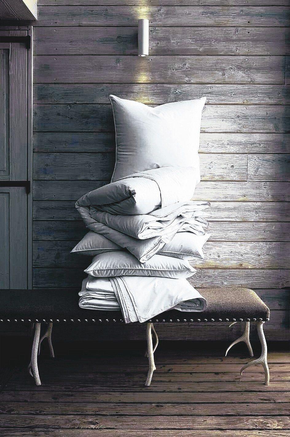 鵝絨枕具有柔軟、包覆度高、透氣等特性,適合台灣氣候。 FRETTE/提供