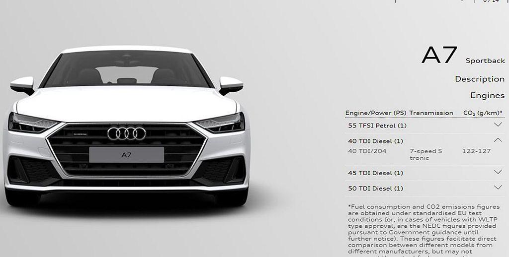 新世代Audi A7 Sportback 40 TDI不僅相同獲得這具新柴油引擎,同時還是此車系首見的四缸引擎設定。 圖/Audi提供
