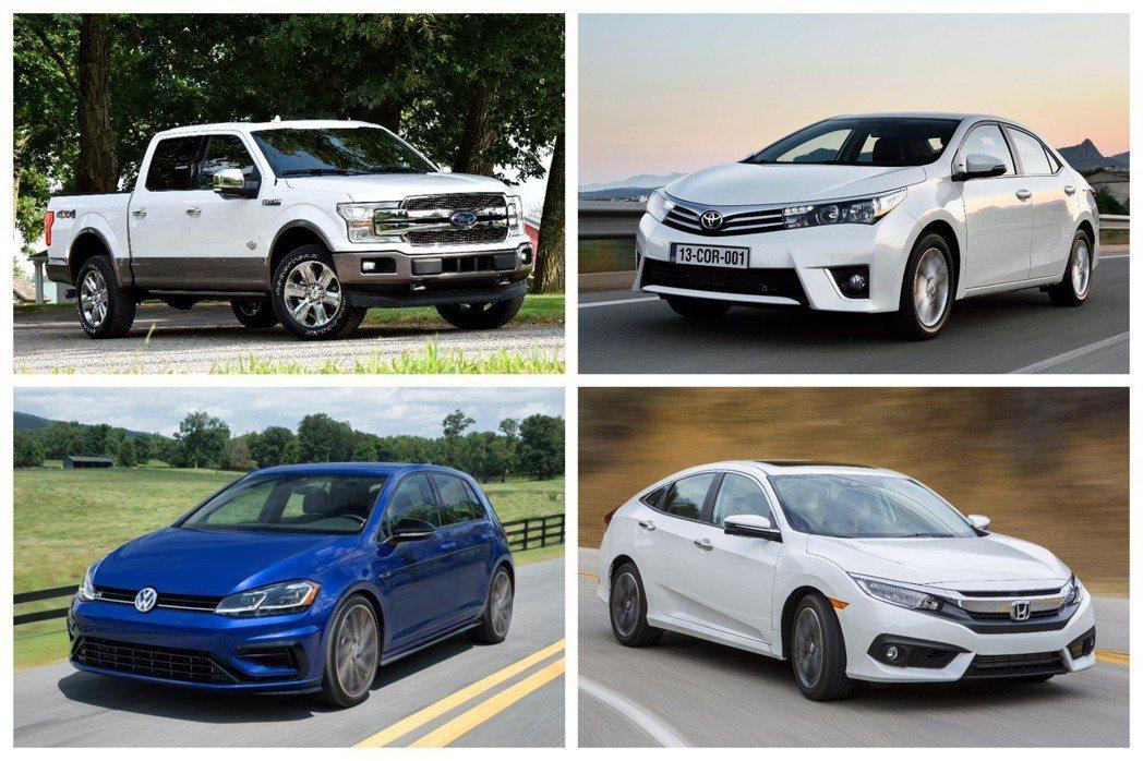 這四款車為今年上半年最暢銷前四名車款(僅為JATO調查的57個市場中計算)。 摘...